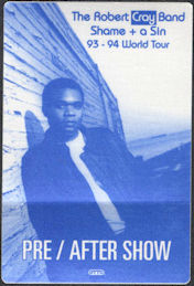 ##MUSICBP0651 - The Robert Cray Band OTTO Cloth Backstage Pass from the 1993/94 Shame + a Sin World Tour