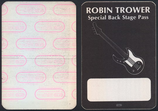 ##MUSICBP0183 - Robin Trower Cloth OTTO Backstage Pass from the 1984 Tour
