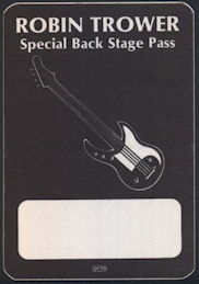 ##MUSICBP0183 - Robin Trower Cloth OTTO Backstage Pass from the 1984 Tour - as low as $5 each