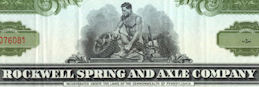#ZZCE065 -Rockwell Spring and Axle Company Stock Certificate