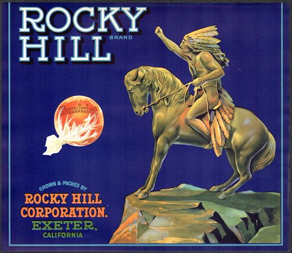 #ZLC448 - Rocky Hill Brand Sunkist Orange Crate Label