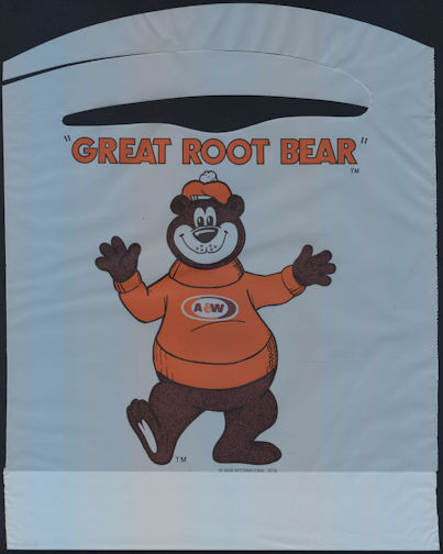"""#SOZ105 - The """"Great Root Bear"""" A & W Root Beer Mascot Advertising Bib - As low as 50¢ each"""