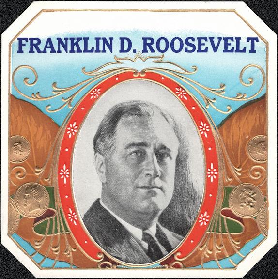#ZLSC116 - Franklin D. Roosevelt Outer Cigar Box Label