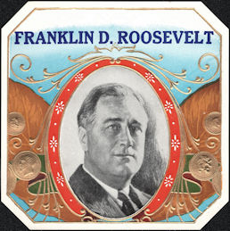 #ZLSC116 - Franklin D. Roosevelt Outer Cigar Box Label