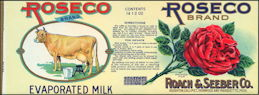 #ZLCA043 - Roseco Evaporated Milk Label