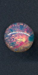 #BEADS0746 - 11mm Round Fire Opal Glass Cabochon - As Low as 15¢ each