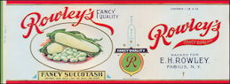 #ZLCA156 - Rare Rowley's Fancy Succotash Label