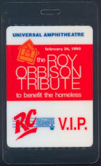 ##MUSICBP0063 - 1990 Roy Orbison  Tribute Concert Event Laminated Backstage Pass - Many Famous Artists Including Bob Dylan, B. B. King, John Fogerty, etc.