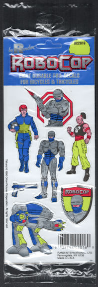 #CH356 - Group of 12 Orion Pictures Licensed RoboCop Foil Decals for Bikes & Trikes