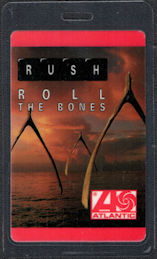 ##MUSICBP0588  - 1991 Rush Laminated OTTO Backstage Pass from the Roll the Bones Tour - Atlantic Records