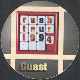##MUSICBP0748 - Round 1994 Rush OTTO Cloth Backstage Pass from the 1994 Counterparts Tour