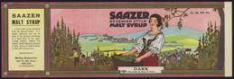 #ZLCA148 - Very Rare Large Saazer Bohemian Style Malt Syrup Can Label