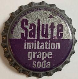#BC199 - Rare Salute Imitation Grape Cork Lined Soda Bottle Cap