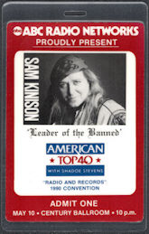 #CH374 - Sam Kinison OTTO Laminated Backstage Pass from an appearance at the 1990 Radio and Records Convention