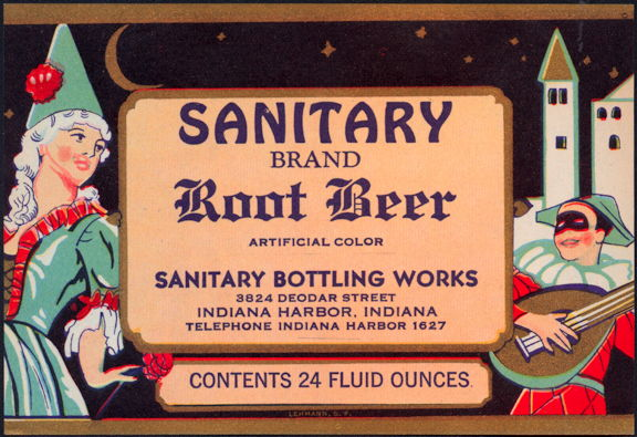 #ZLS048 - Sanitary Brand Root Beer Label