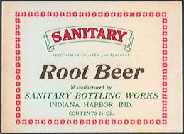 #ZL201 - Early Sanitary Root Beer Bottle Label - As low as 25¢ each