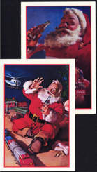 #CC289 - Pair of Coca Cola Postcards with Santa