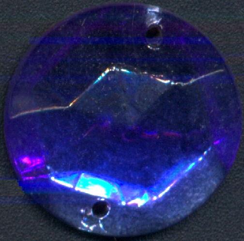 #BEADS0834 - Fancy Foil Flat Back Sapphire Colored 20mm Sew On Glass Rhinestone