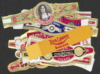 #ZLSC067 - Group of 25 Different Old Cigar Bands