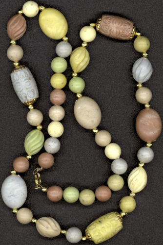 #BEADS0198 - Acrylic Bead Tribal Design Hippie Necklace
