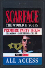 #CH361 - Laminated OTTO Pass from the World Premiere Party for the Scarface Video Game - As low as $1.50 each