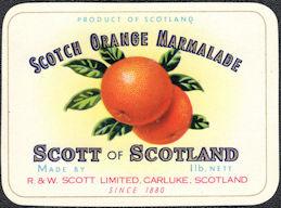 #ZBOT214 - Scotch Orange Marmalade Jar Label