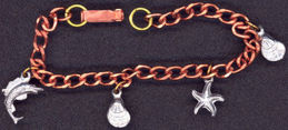 #BEADS0490 - Copper Seashore Charm Bracelet with Charms