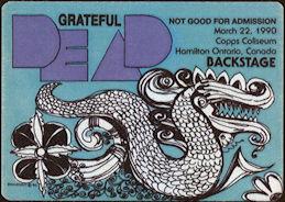 ##MUSICBP0487 - Grateful Dead Cloth OTTO Backstage Pass - Sea Serpent