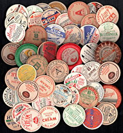 #DC202 - Group of 50 Different Milk Bottle Caps from a Collection - Many Super Rare - Different from our Regular Set
