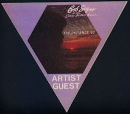 ##MUSICBP0404 - Bob Seger OTTO Cloth Backstage Pass from the 1983 The Distance Tour
