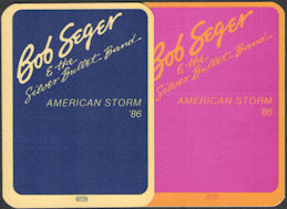 ##MUSICBP0103  - Pair of Bob Seger & the Silver Bullet Band 1986 American Storm Tour OTTO Cloth Backstage Passes