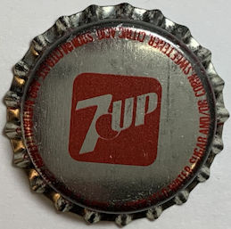 #BC198 - Group of 10 Early Plastic Lined 7up Soda Bottle Caps