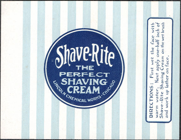 #ZBOT216 - Group of 4 Shave-Rite Shaving Cream Jar Labels