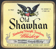 #ZLW134 - Old Shawhan Kentucky Bourbon Whiskey Label - As low as 25¢ each