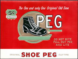 #ZLSC107 - Peg Inner Cigar Box Label - Old Time Shoe