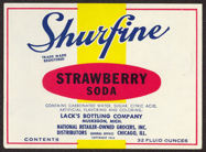 #ZLS158 - Shurfine Strawberry Soda Label