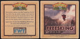 #SP072 - Sierra Nevada Beer Coaster Advertising the Freeskiing World Tour - As low as 12¢ each