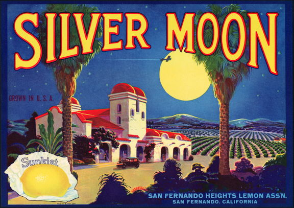 #ZLC154 - Silver Moon Sunkist Lemon Crate Label