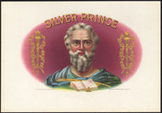 #ZLSC066 - Silver Prince Moses Large Inner Cigar Label