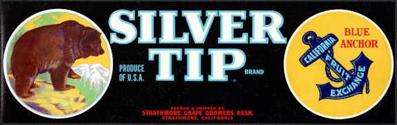 #ZLSG099 - SIlver Tip Grape Crate Label