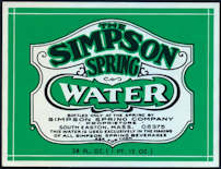 #ZLS189 - Simpson Spring Water Bottle Label - As Low as 15¢ each