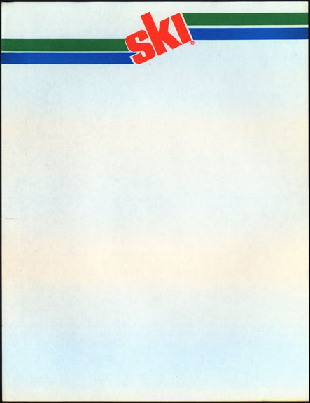 #SOZ116  - Group of 5 Ski Soda  Letterheads