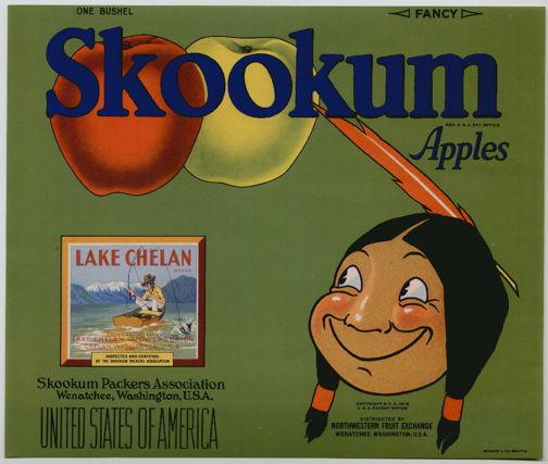 #ZLC235 - Skookum Apple Crate Label - Green Version