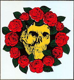 ##MUSICBP2004 - Grateful Dead Tour Sticker/Decal - Bertha in Ring of Roses