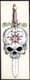 ##MUSICBP2021 - Grateful Dead Tour Sticker/Decal - Blacklight Wizard Wear Skull Pierced by a Sword