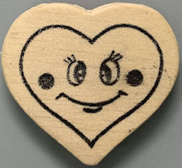 #HH223 - Group of 12 Wooden Heart Magnets - Valentines Day
