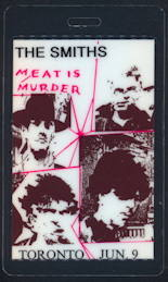 ##MUSICBP0091  - The Smiths Meat is Murder Tour OTTO Laminated Backstage Pass