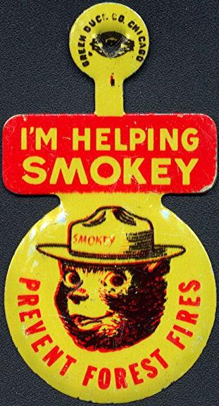 #CH006 - Smokey the Bear Pin