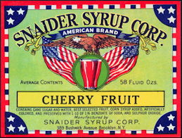 #ZLS045 - Snaider's Cherry Fruit Syrup Label