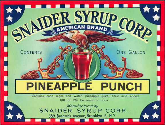 #ZLS071 - Snaider Pineapple Punch Label